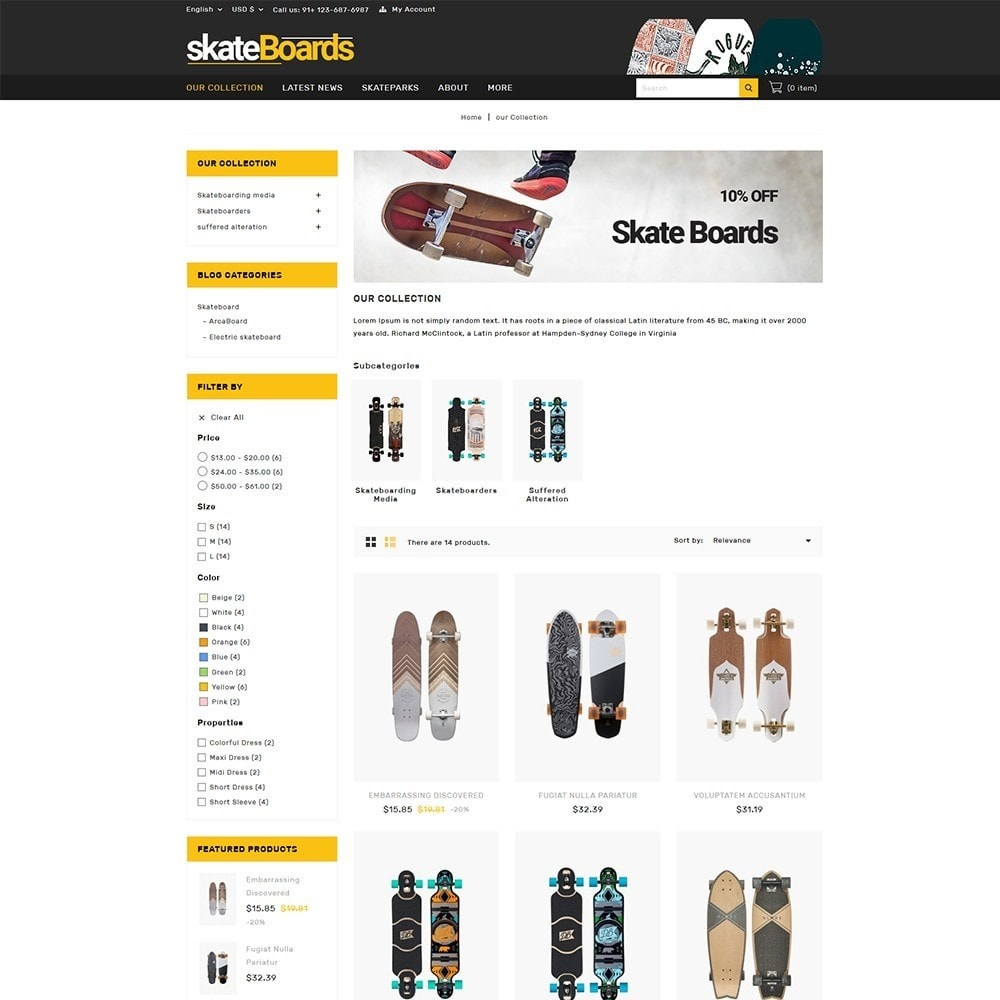 theme - Sports, Activities & Travel - Skateboard Sport Store - 4