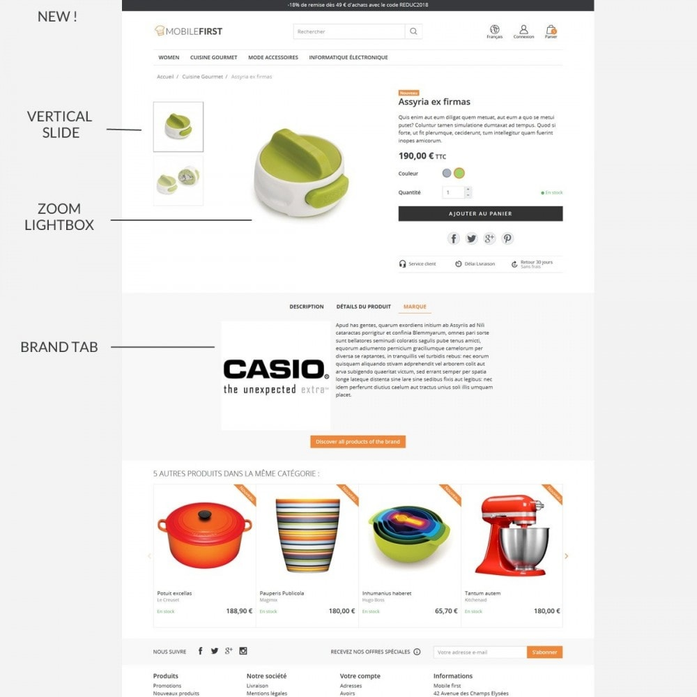 theme - Alimentation & Restauration - Mobilefirst - 8