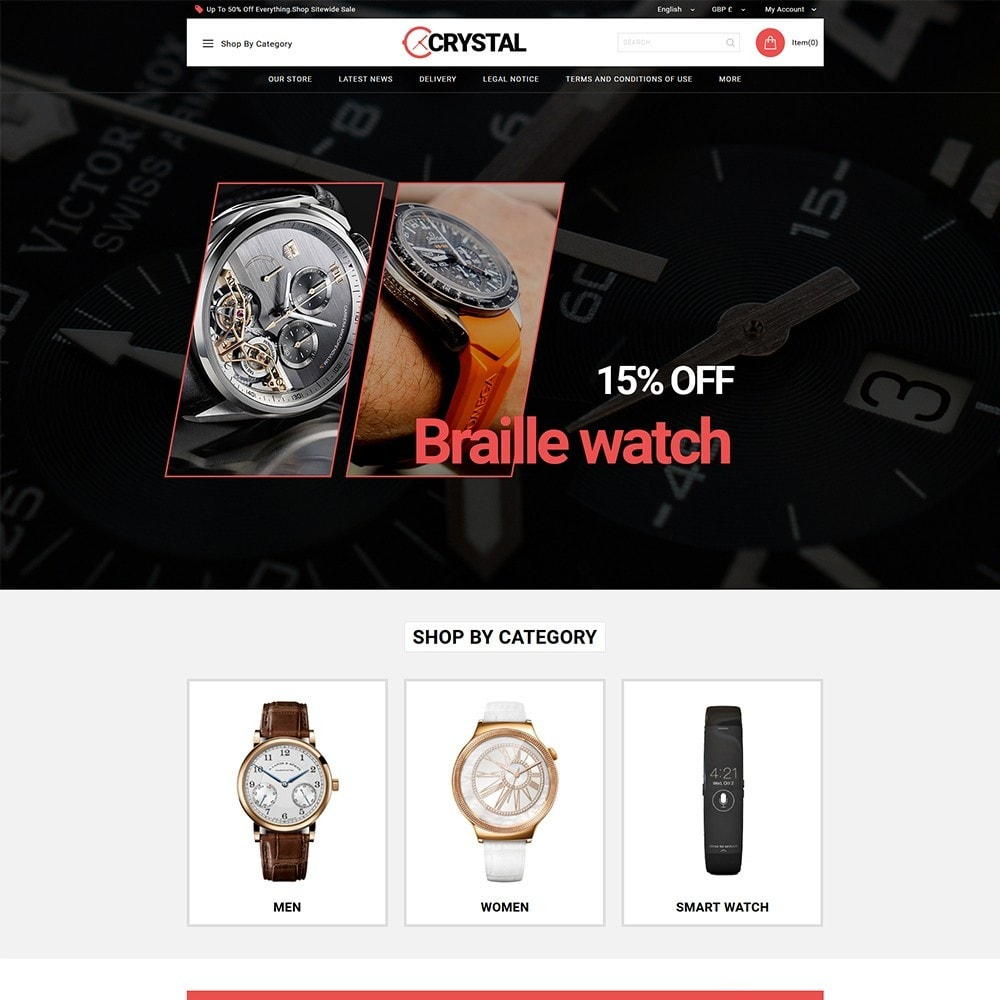 theme - Elettronica & High Tech - Crystal Watch Store - 2