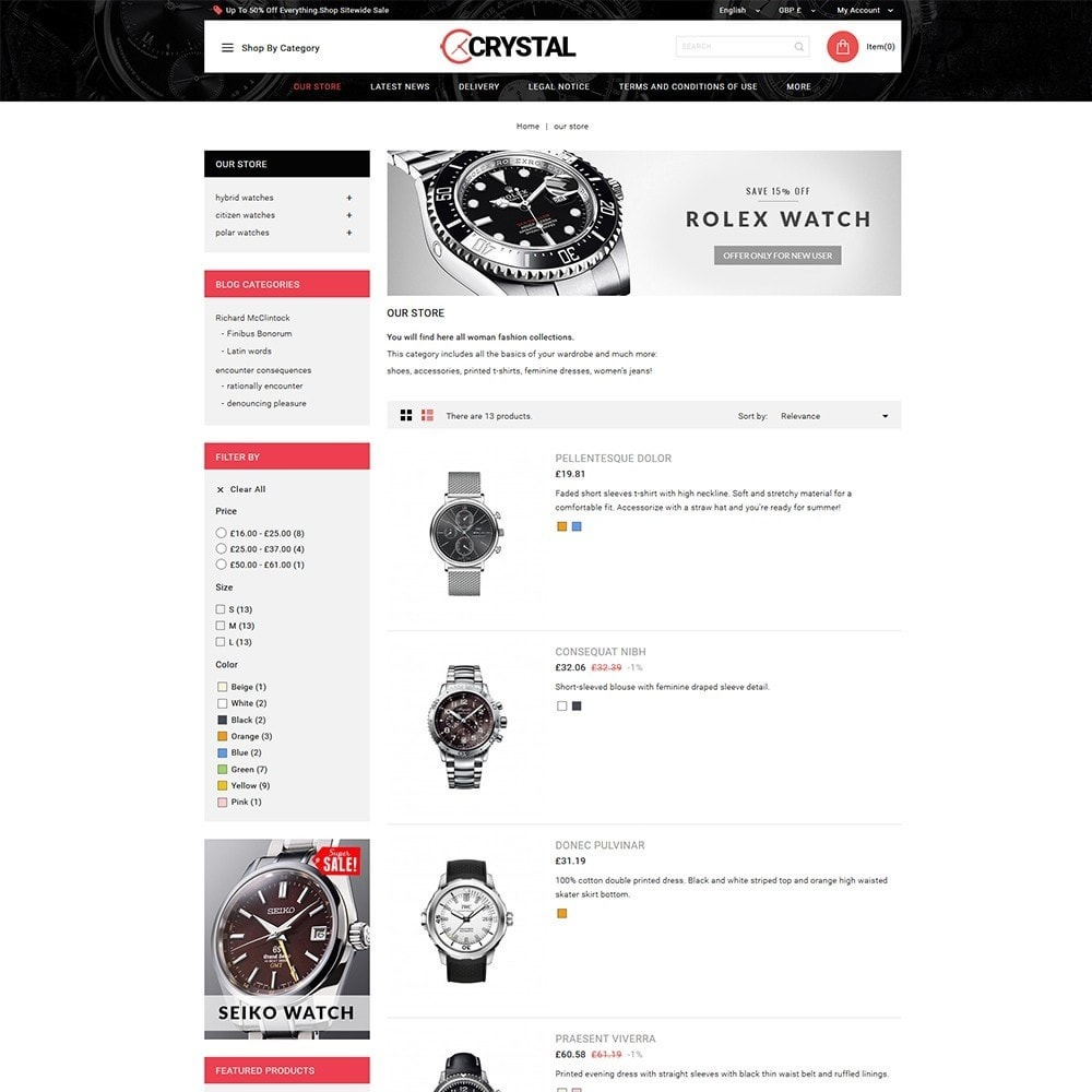 theme - Elettronica & High Tech - Crystal Watch Store - 5
