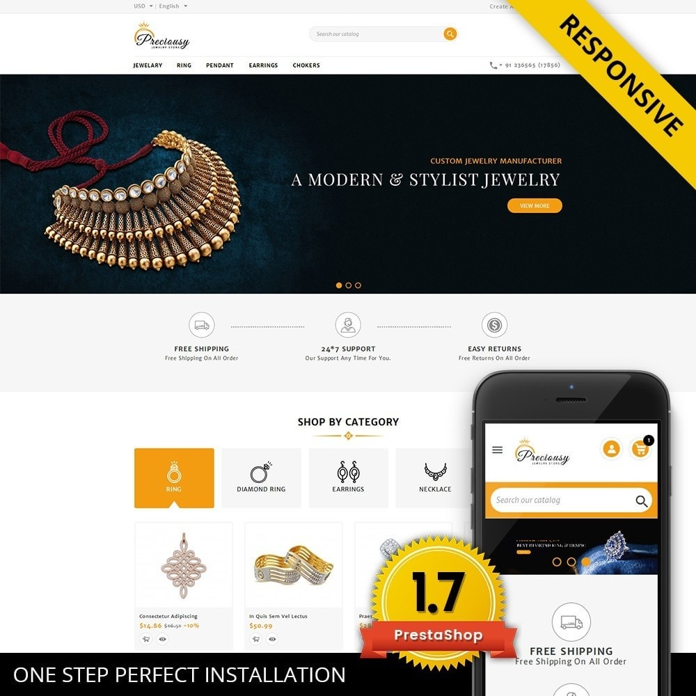 theme - Jewelry & Accessories - Preciousy Jewelry Store - 1