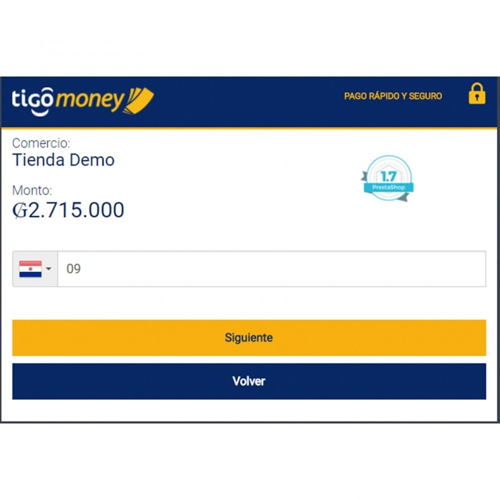 module - Creditcardbetaling of Walletbetaling - Tigo Money Paraguay - 4