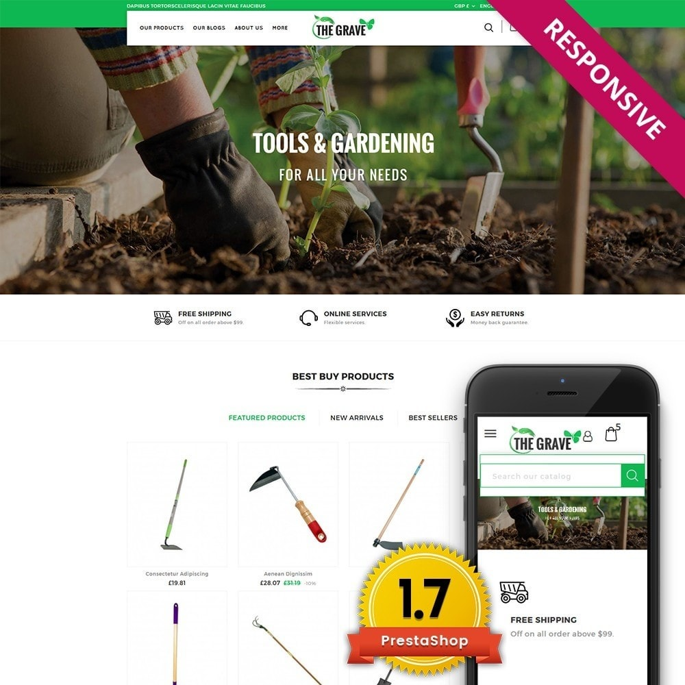 theme - Casa & Jardins - The Grave Gardening Tools - 1