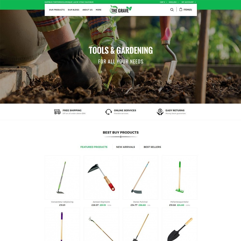 The Grave Gardening Tools