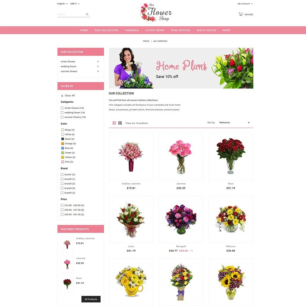theme - Prezenty, Kwiaty & Uroczystości - The Flower Shop - 4