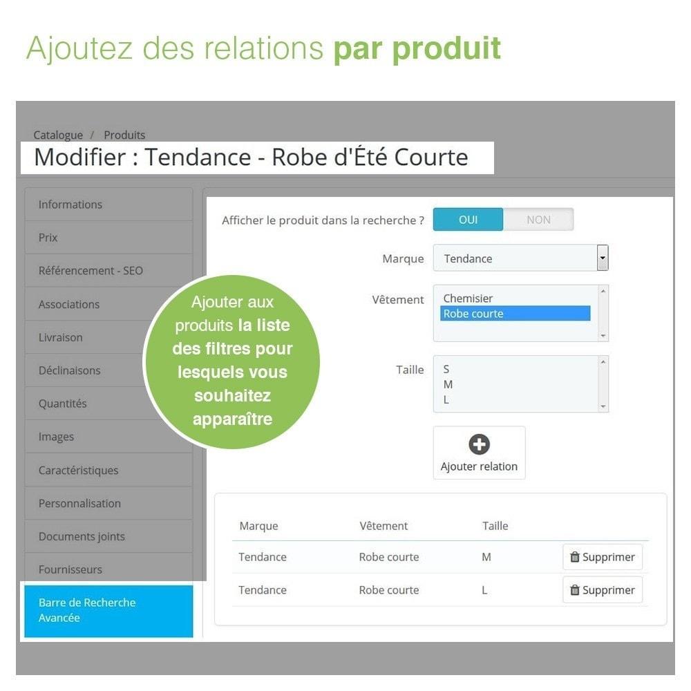 module - Recherche & Filtres - Barre de Recherche Avancée de Produits à 3 Filtres - 8