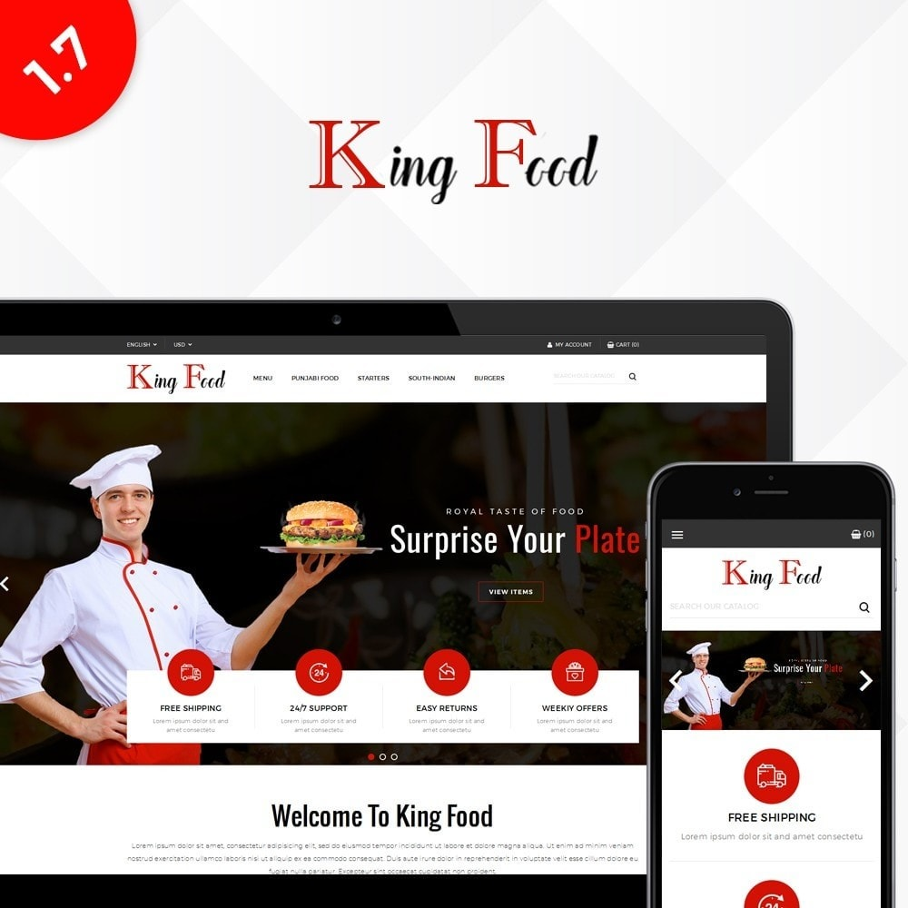 theme - Food & Restaurant - King Food Store - 1