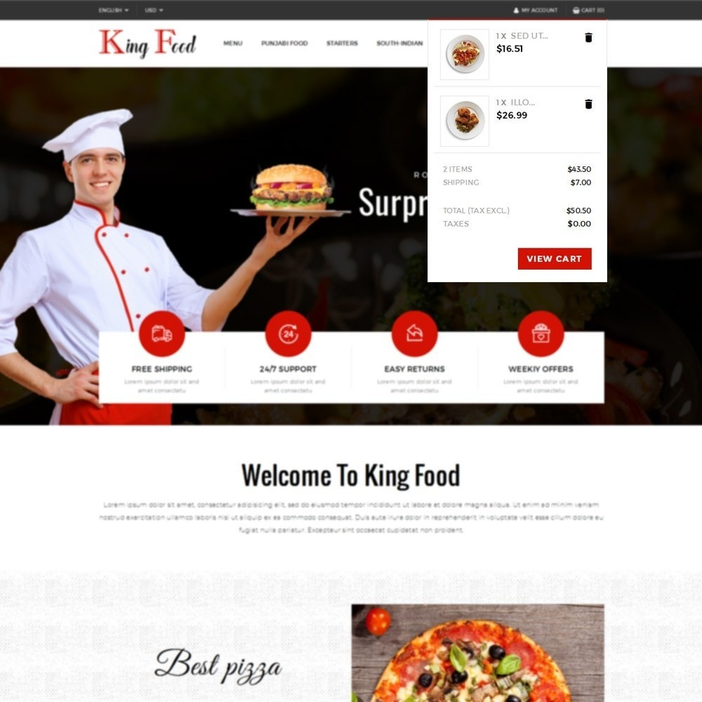 theme - Food & Restaurant - King Food Store - 8