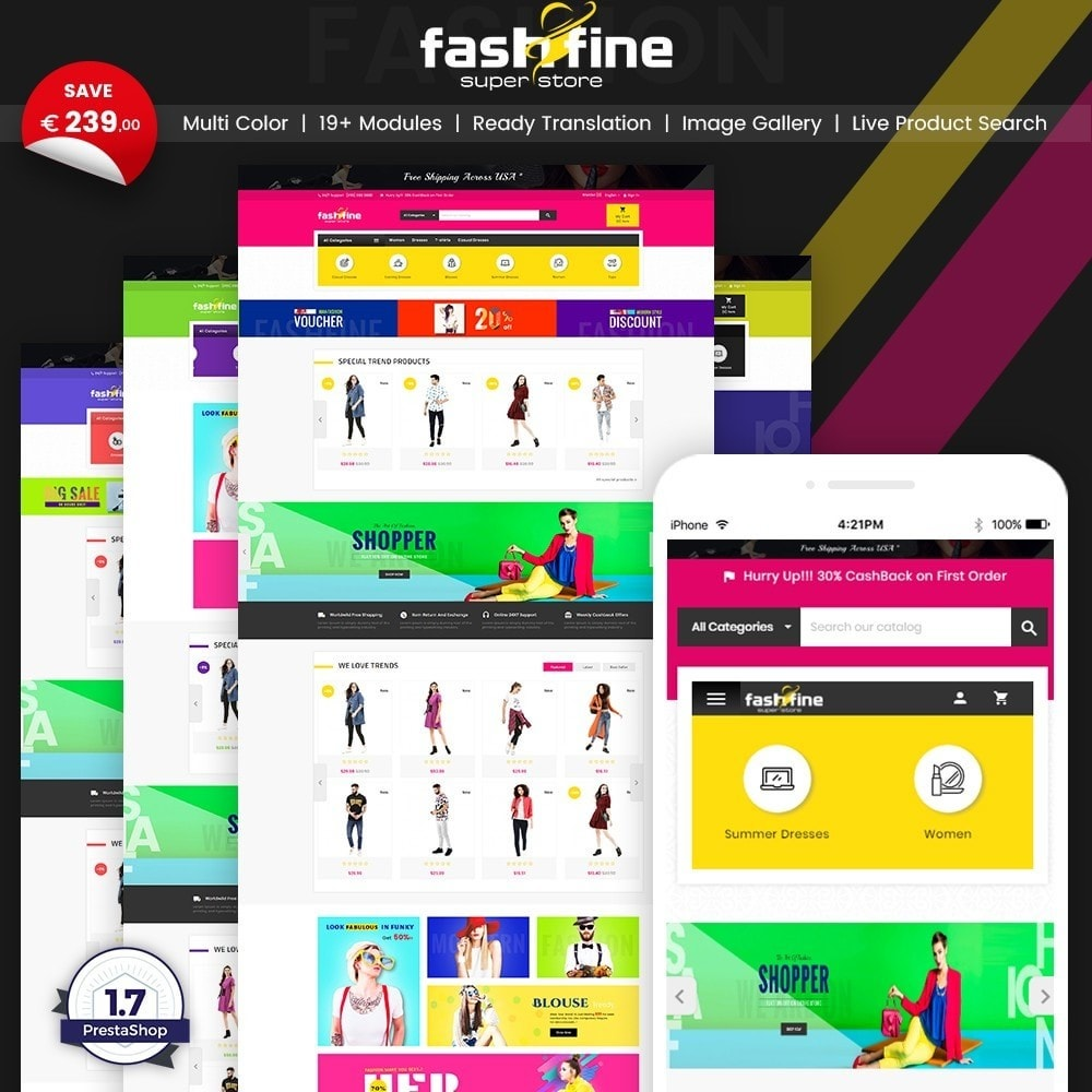 theme - Fashion & Shoes - FashFine–Fashion and LifeStyle Accessories Super Store - 1