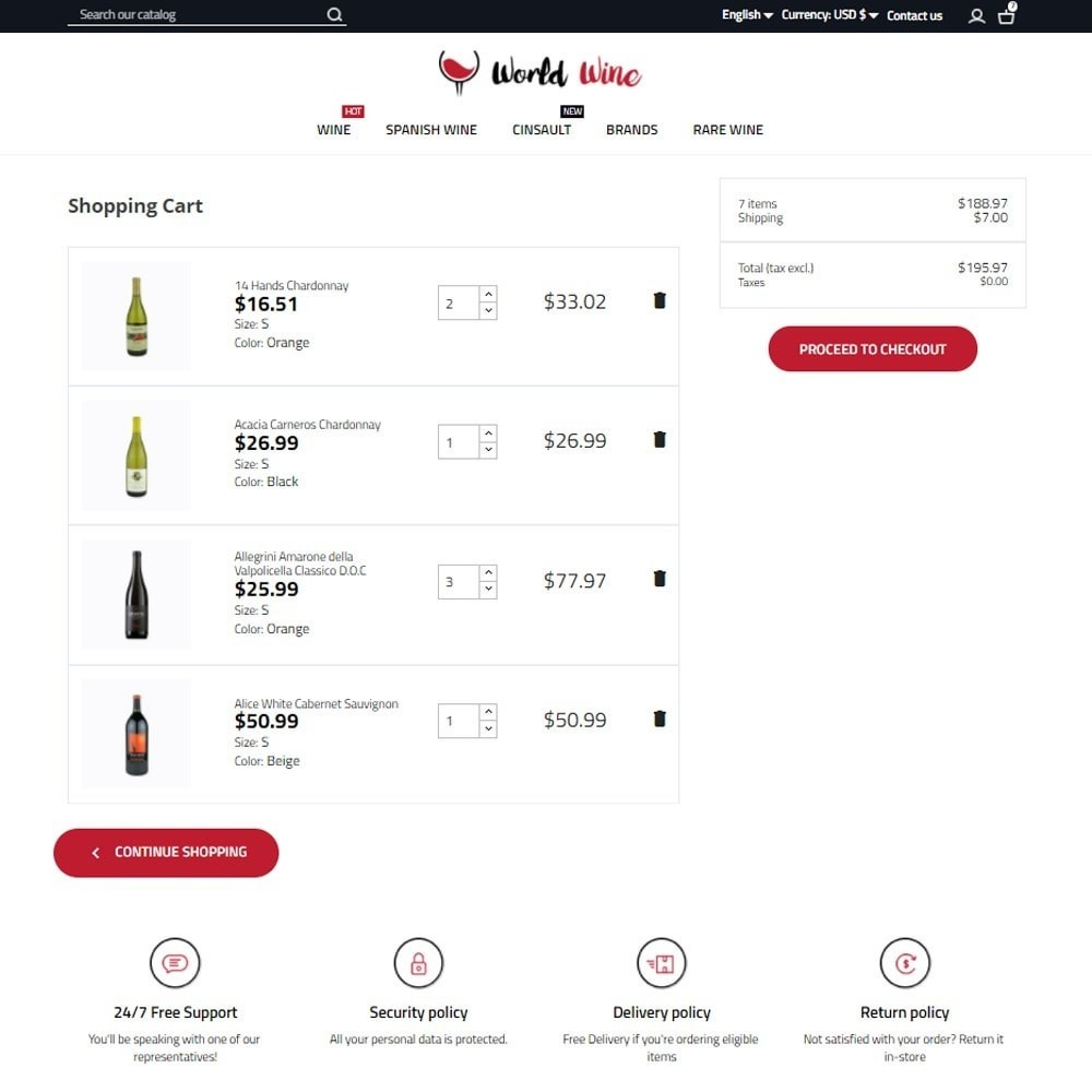 theme - Napoje & Wyroby tytoniowe - World Wine Shop - 7