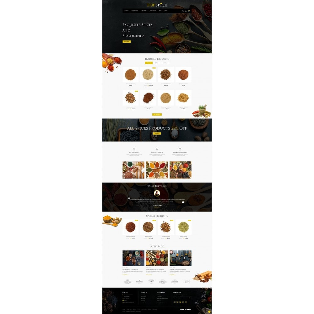 theme - Food & Restaurant - Top Spice Store - 2