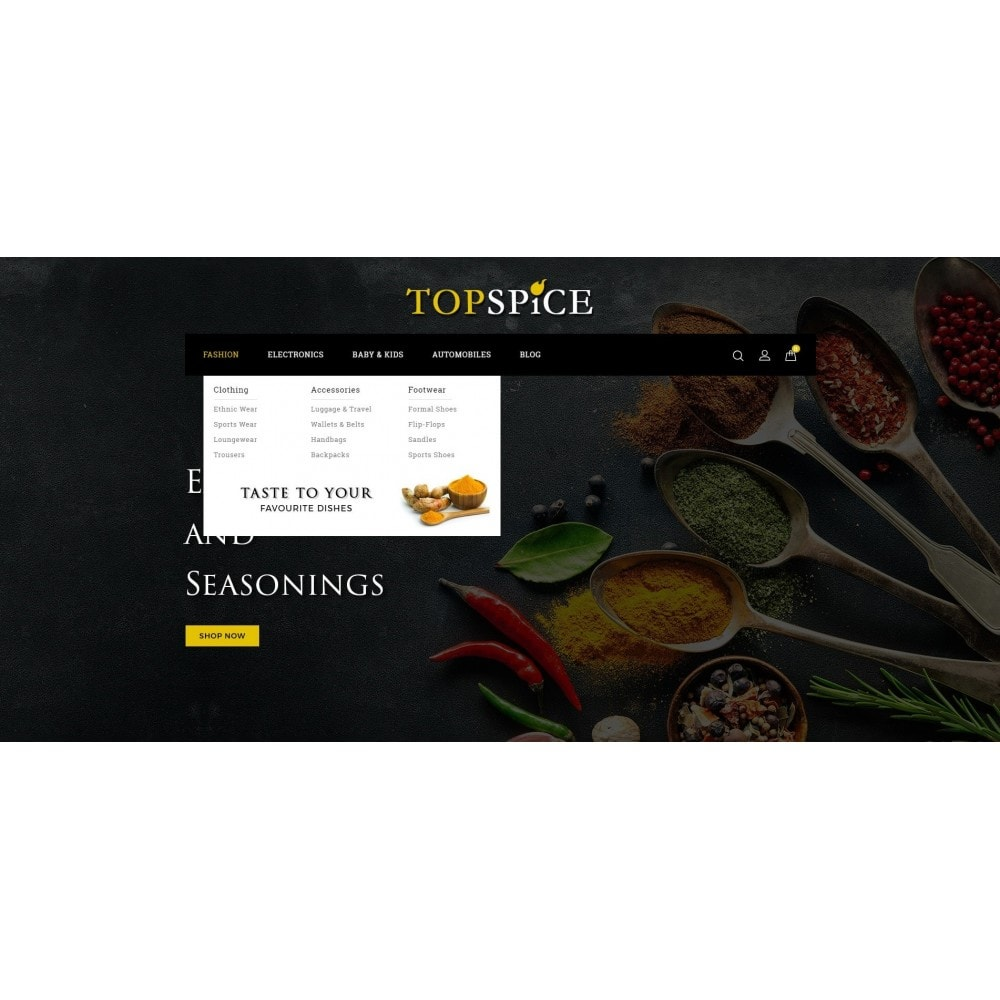 theme - Eten & Restaurant - Top Spice Store - 6