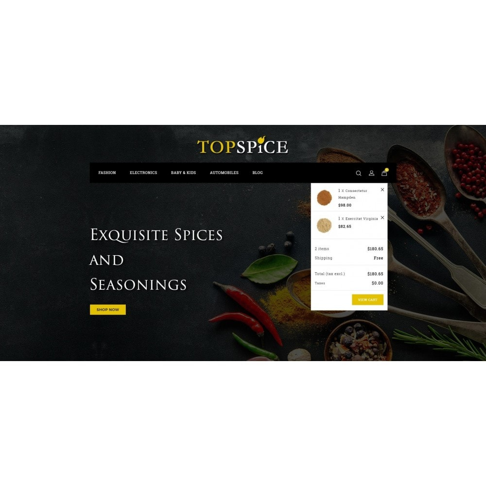 theme - Food & Restaurant - Top Spice Store - 8