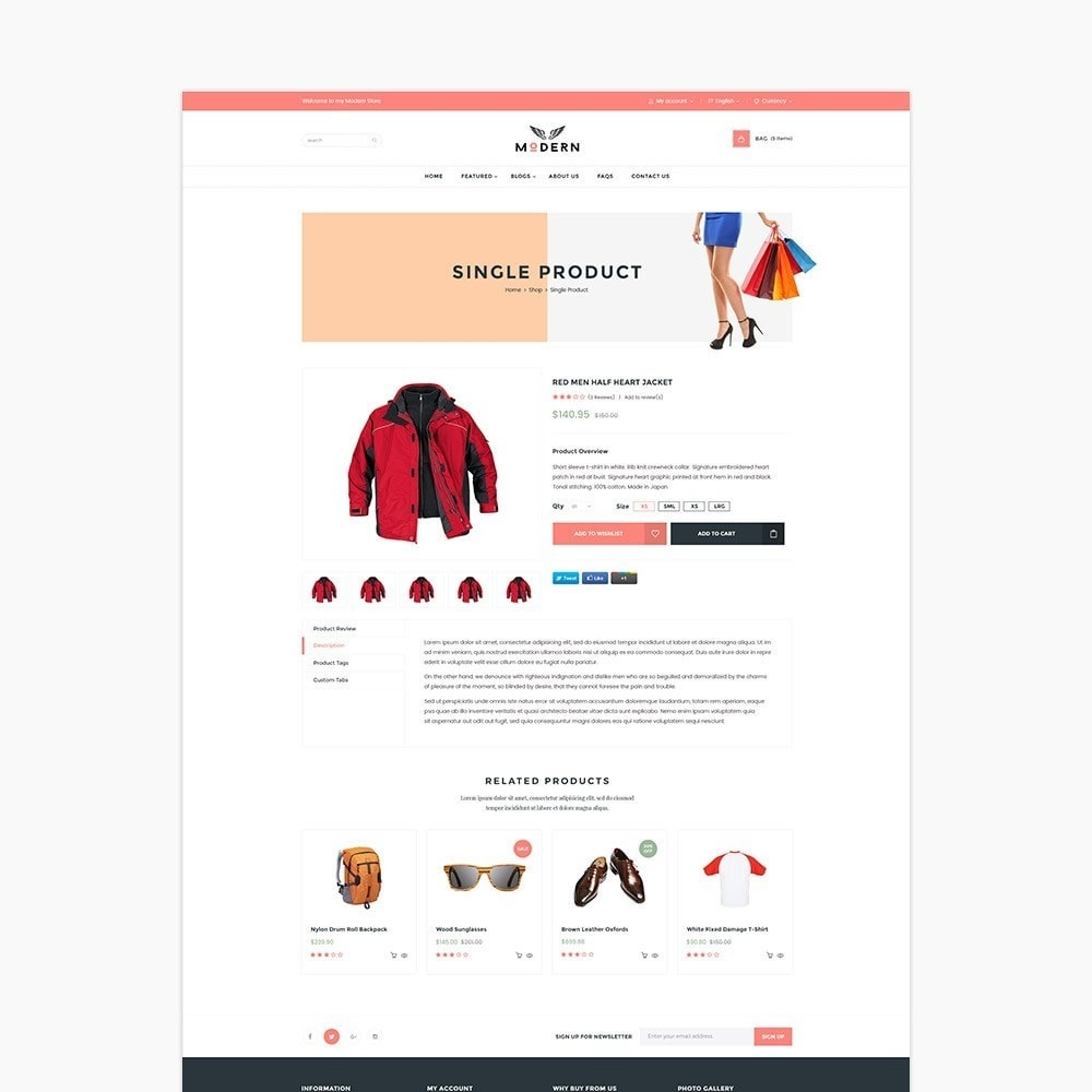 theme - Mode & Chaussures - Fashion Shoes, Bag, Shirt Store - 4