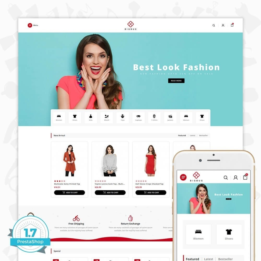 theme - Moda y Calzado - BIGBUG - The Fashion Store - 1