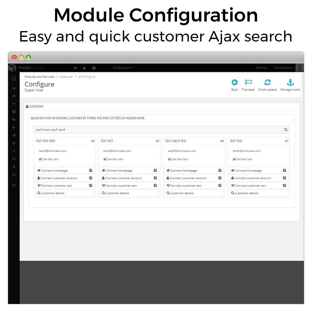 module - Servicio posventa - Super Usuario - Conectarse como cliente - 3