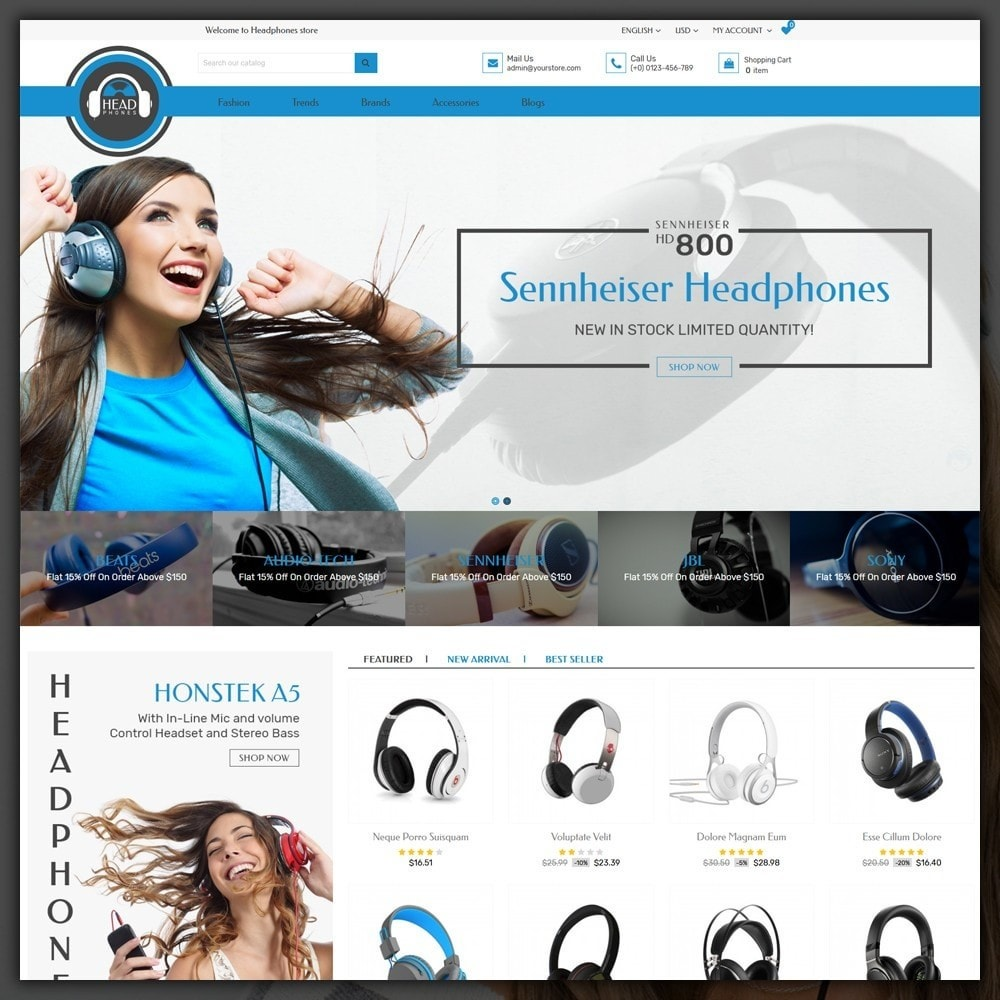 theme - Elektronika & High Tech - Headphone Shop - 2