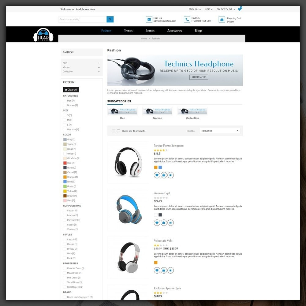 theme - Elektronica & High Tech - Headphone Shop - 5