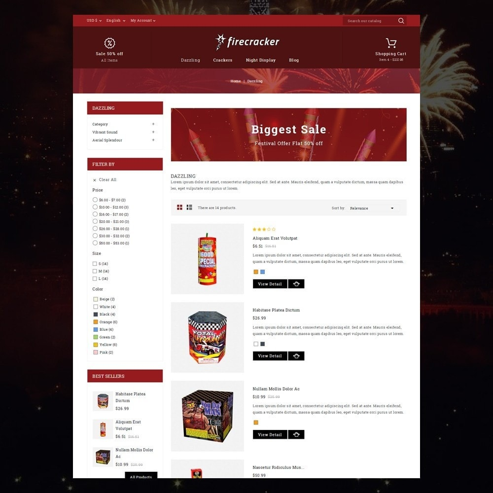 theme - Sport, Rozrywka & Podróże - Firecracker Store - 4