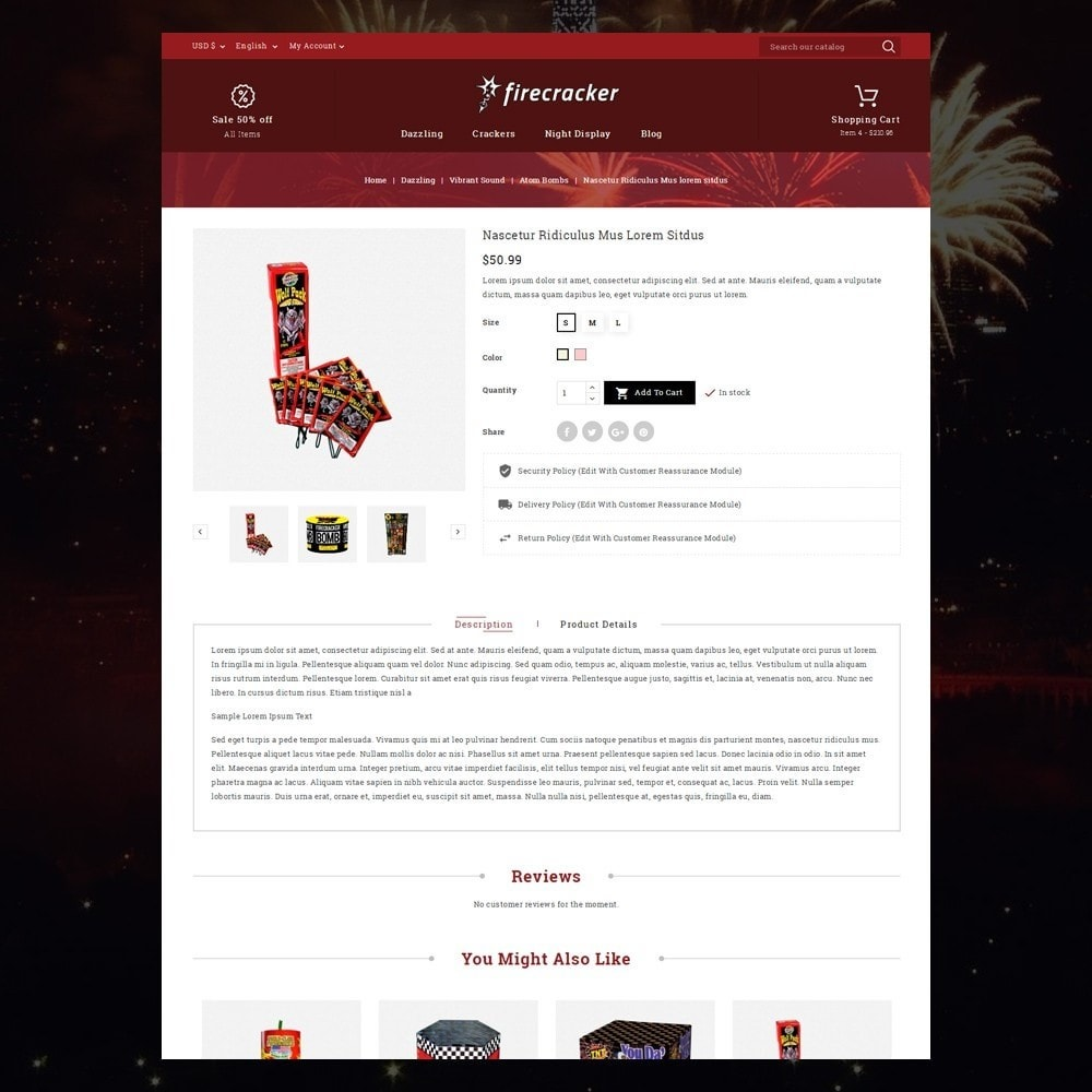 theme - Deportes, Actividades y Viajes - Firecracker Store - 6