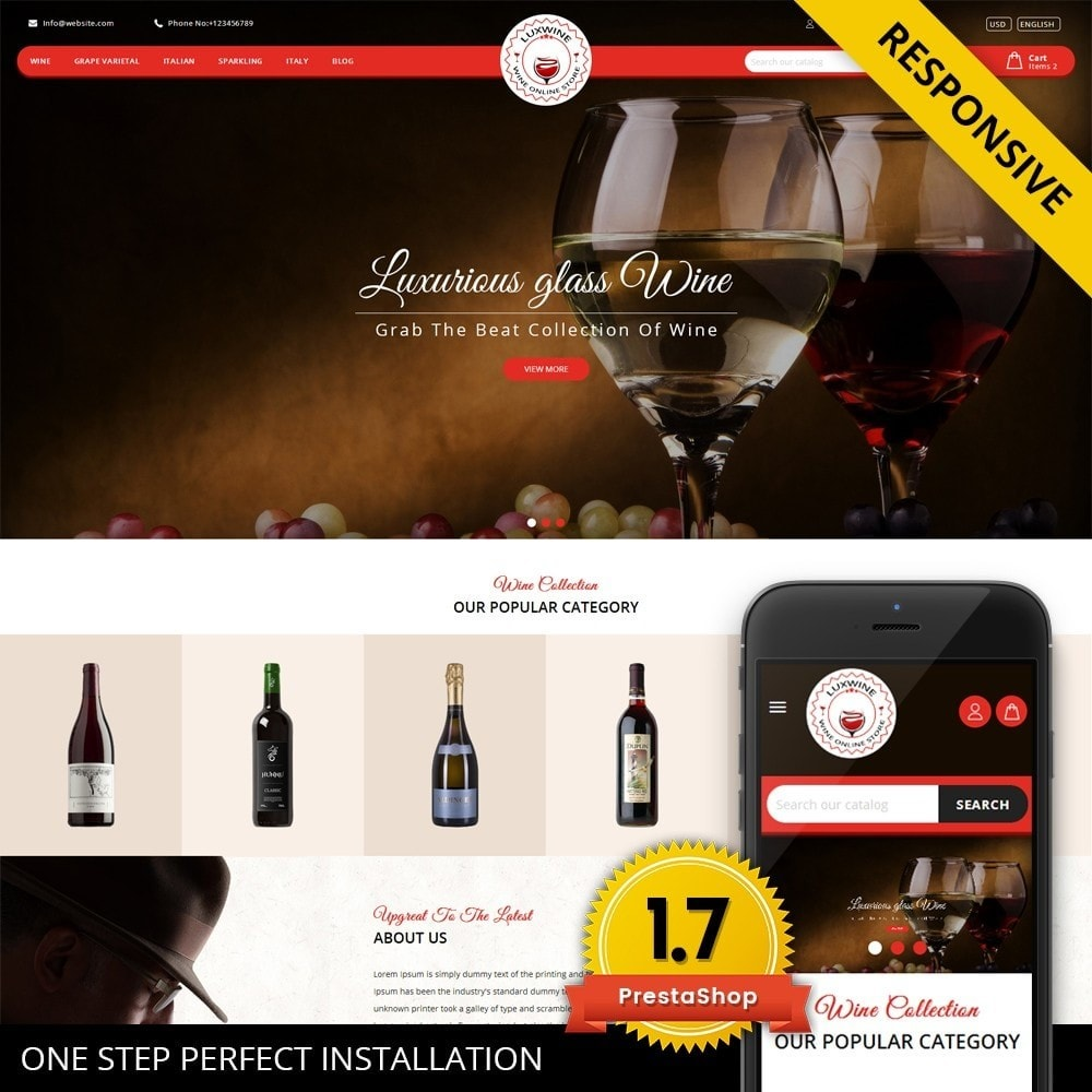 theme - Drink & Wine - Luxwine - Wine Store - 1
