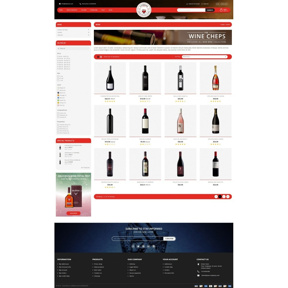 theme - Drink & Tobacco - Luxwine - Wine Store - 3