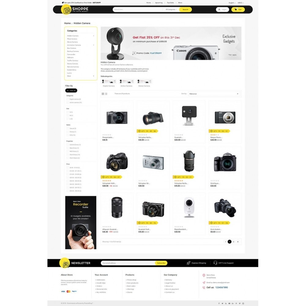 theme - Elettronica & High Tech - Mega Shoppe Camera - 3