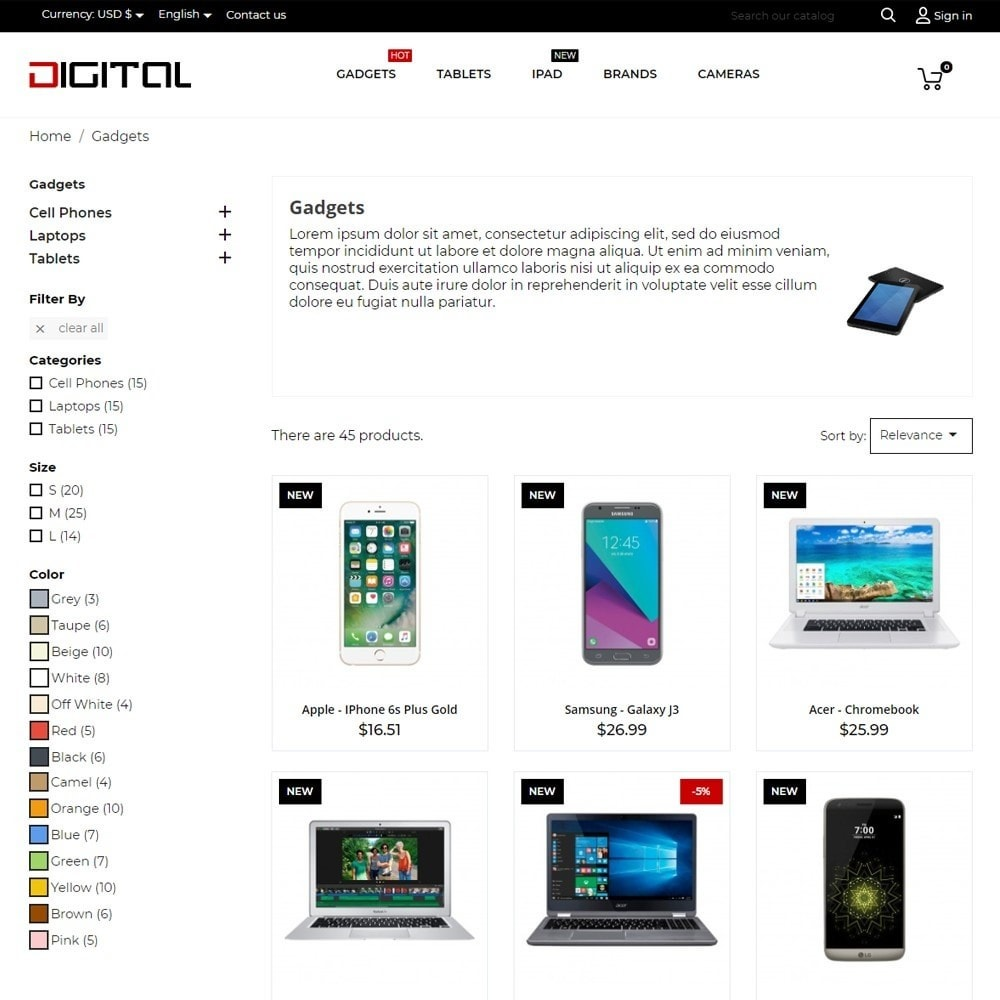 theme - Eletrônicos & High Tech - Digital - High-tech Shop - 6