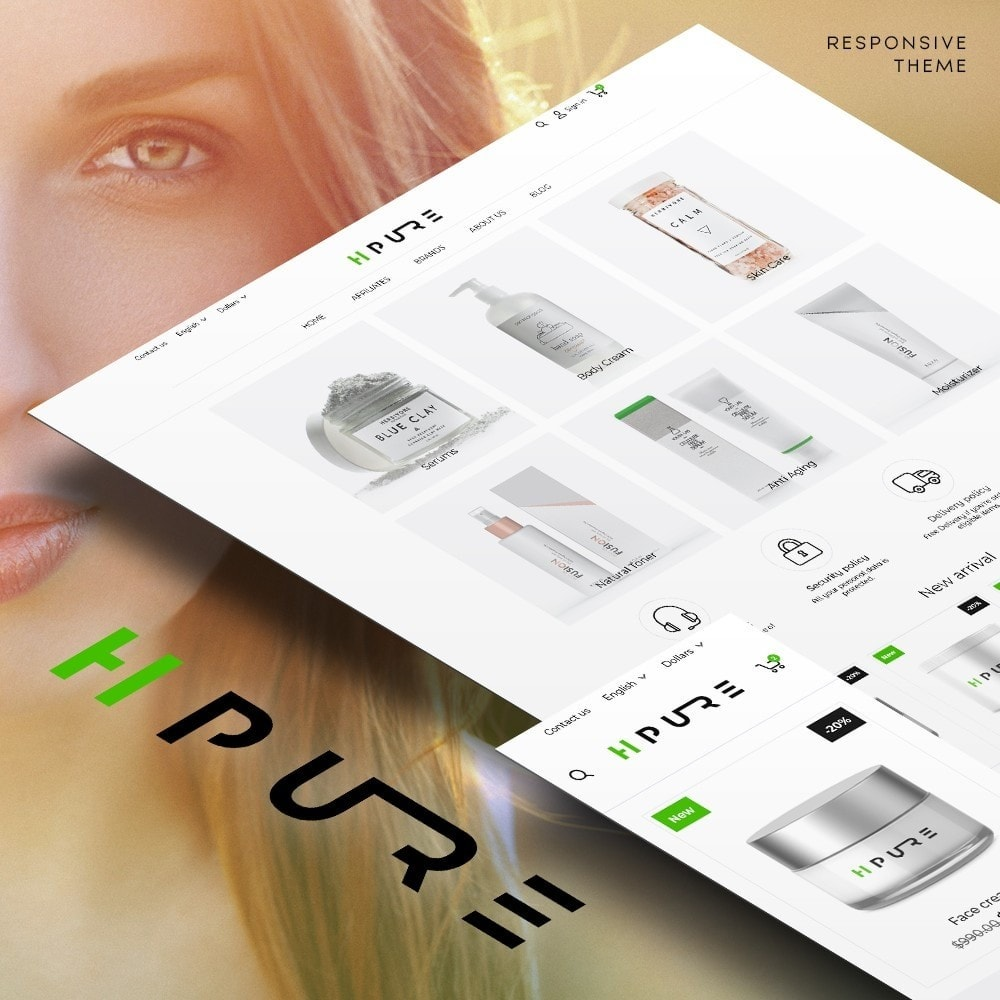 theme - Health & Beauty - HPURE Cosmetics - 1