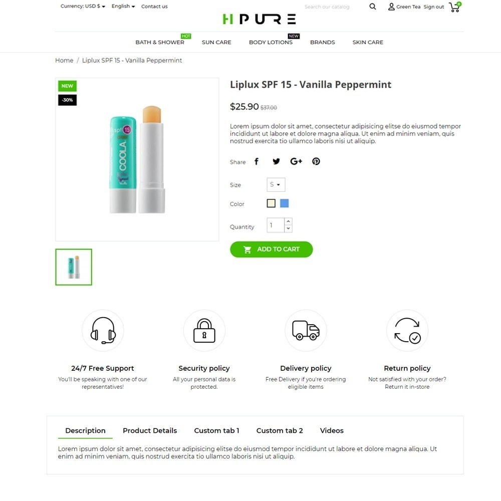 theme - Health & Beauty - HPURE Cosmetics - 5