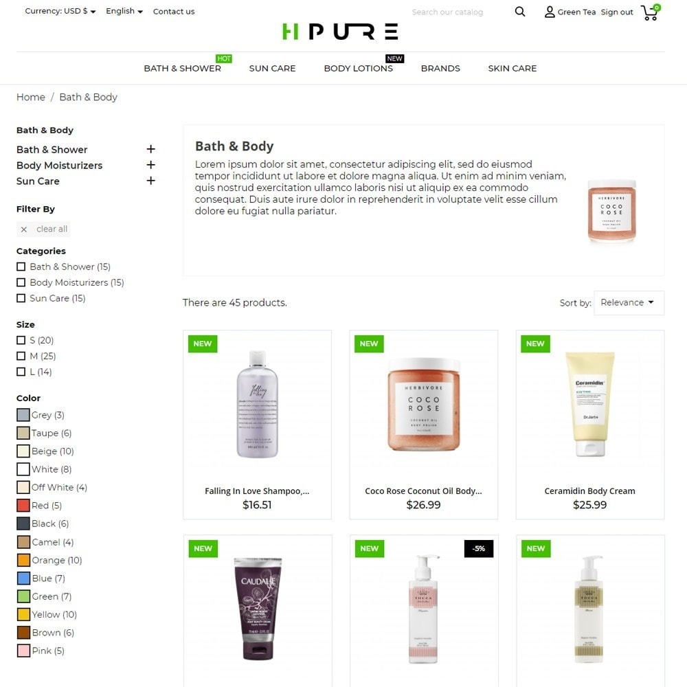 theme - Здоровье и красота - HPURE Cosmetics - 6