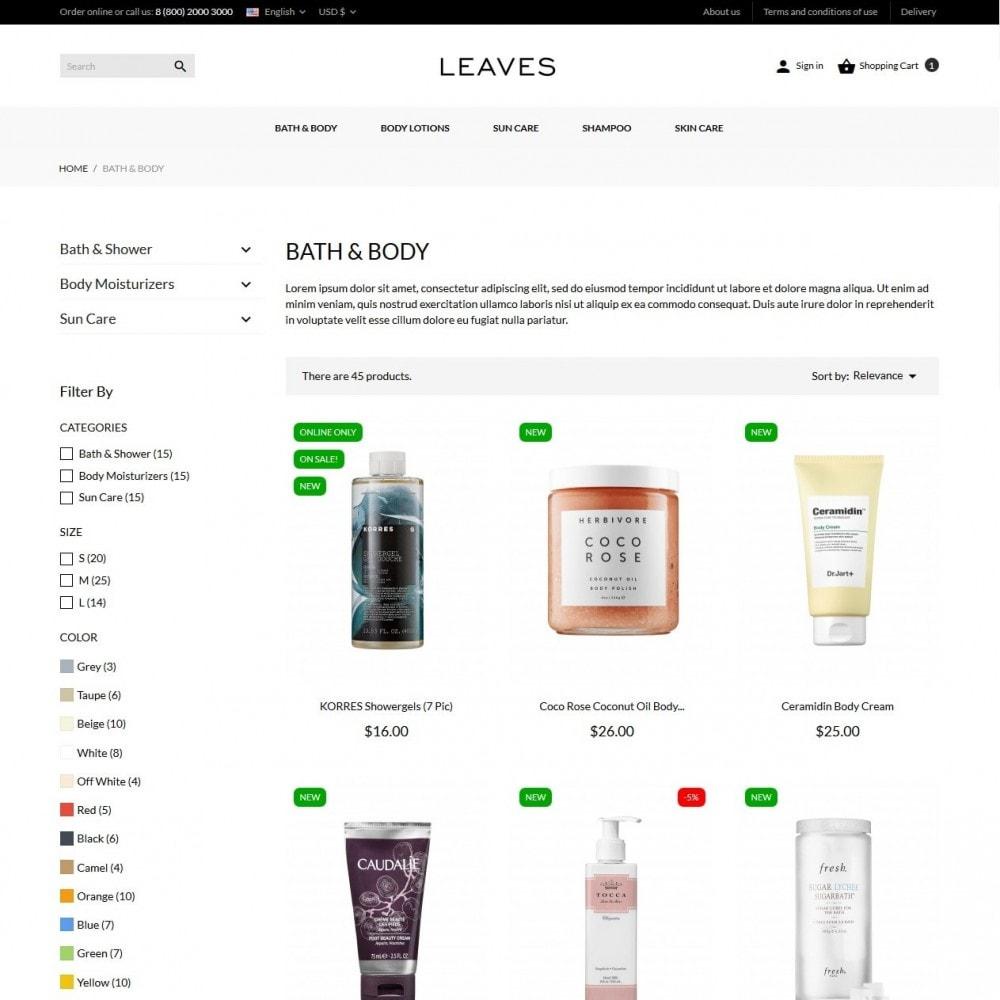 theme - Santé & Beauté - Leaves Cosmetics - 5
