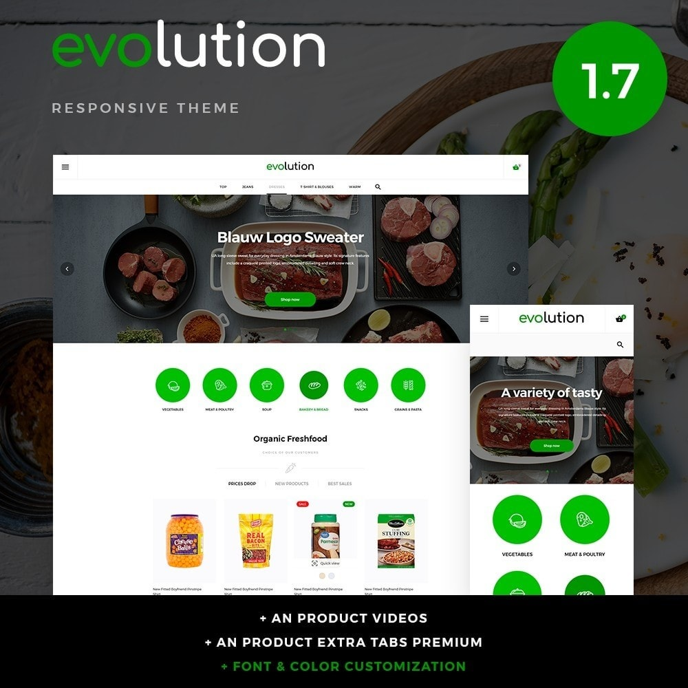 theme - Alimentos & Restaurantes - Evolution - 1
