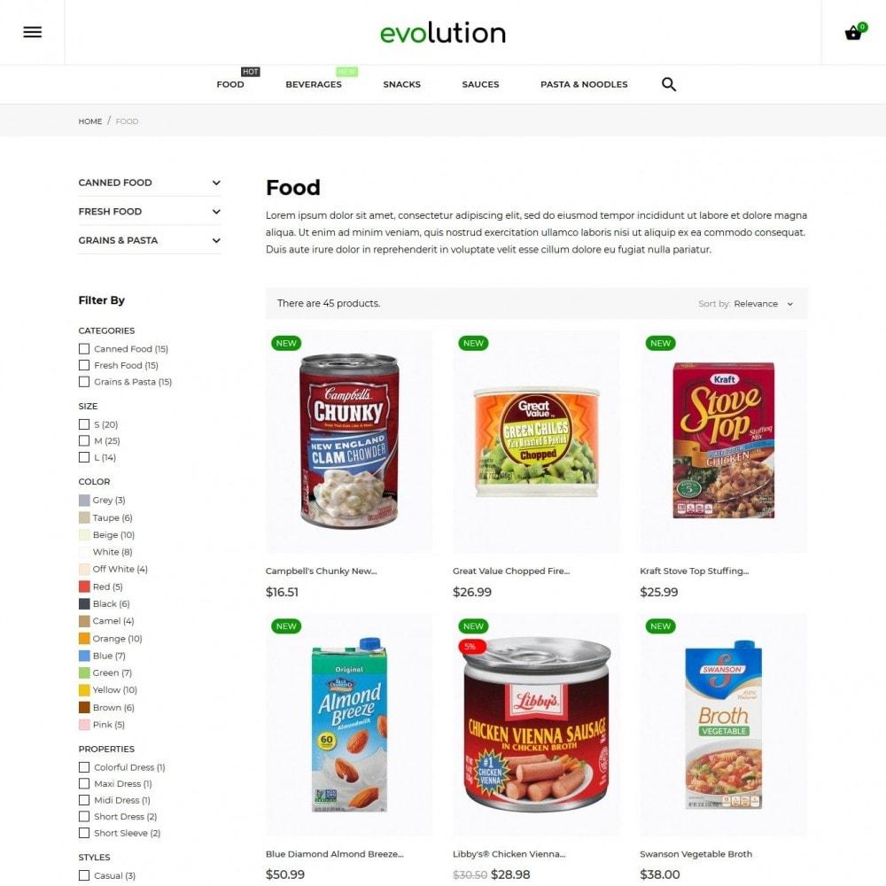 theme - Alimentation & Restauration - Evolution - 5