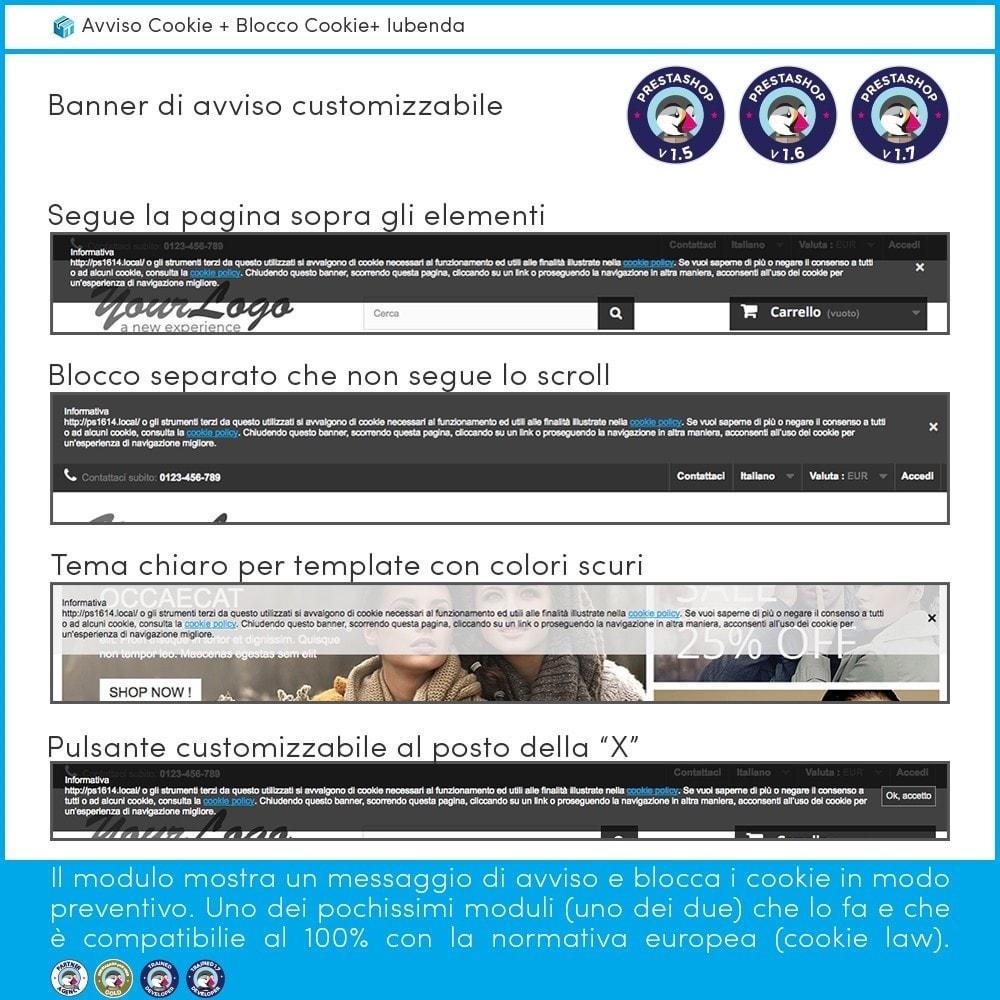 module - Legale (Legge Europea) - Avviso Cookie + Blocco Cookie + Iubenda - 2
