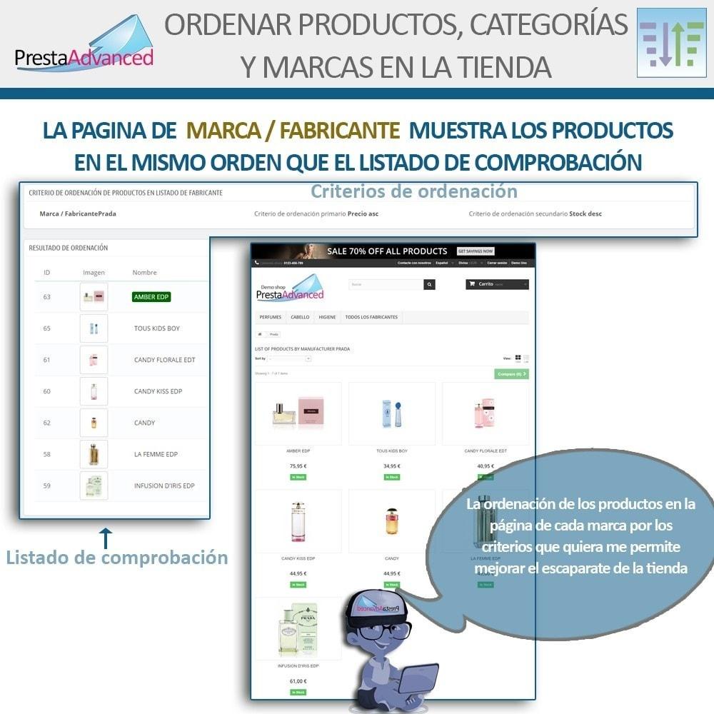 module - Personalización de la página - Ordenar productos, categorías y marcas en la tienda - 9