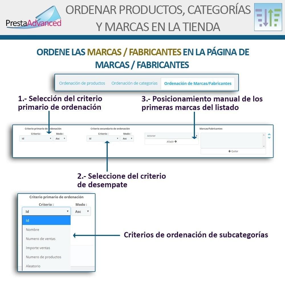 module - Personalización de la página - Ordenar productos, categorías y marcas en la tienda - 16