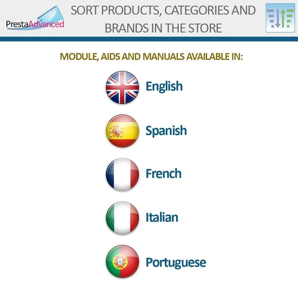 module - Personalizacja strony - Sort products, categories and brands in the store - 19
