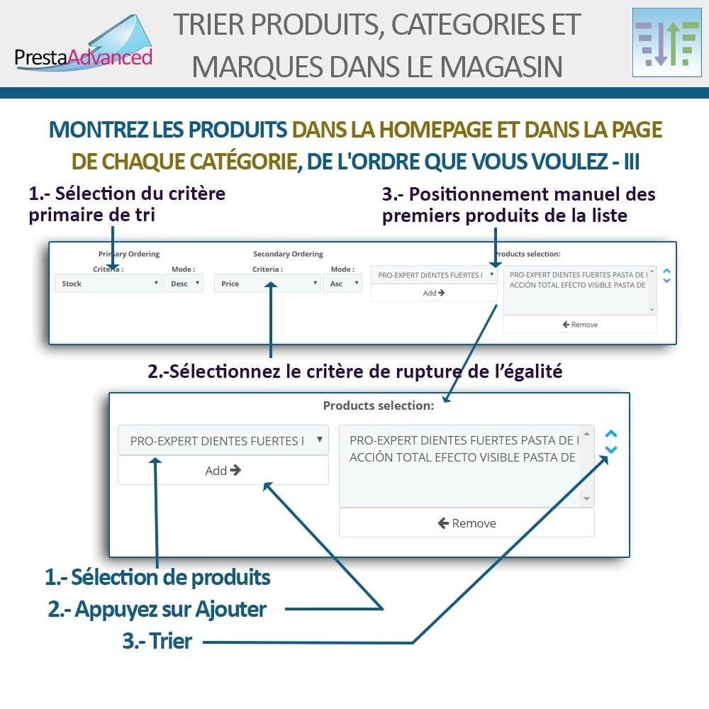 module - Personnalisation de Page - Tri de produits, catégories et marques dans le magasin - 6