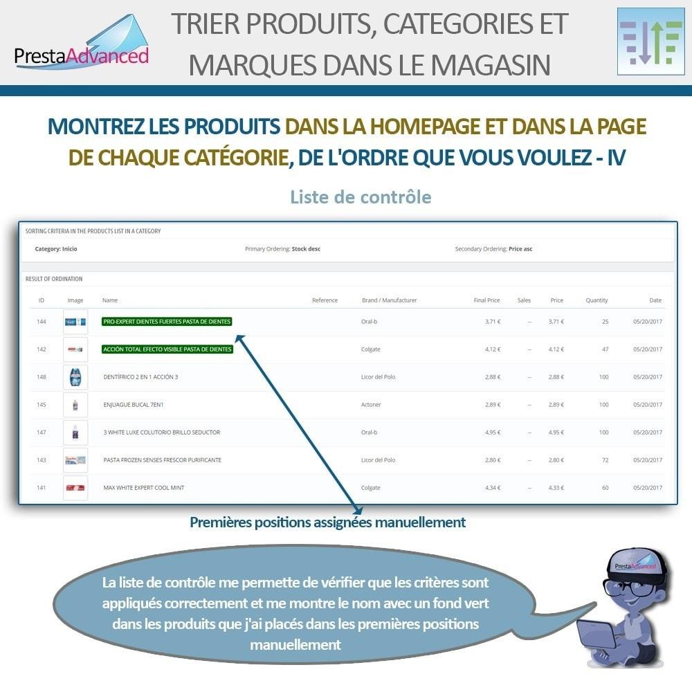 module - Personnalisation de Page - Tri de produits, catégories et marques dans le magasin - 7