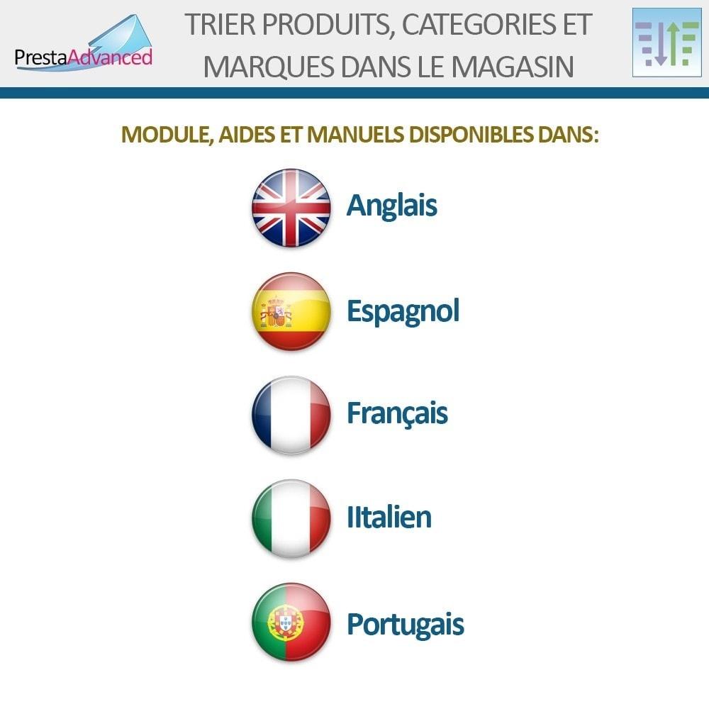 module - Personnalisation de Page - Tri de produits, catégories et marques dans le magasin - 19
