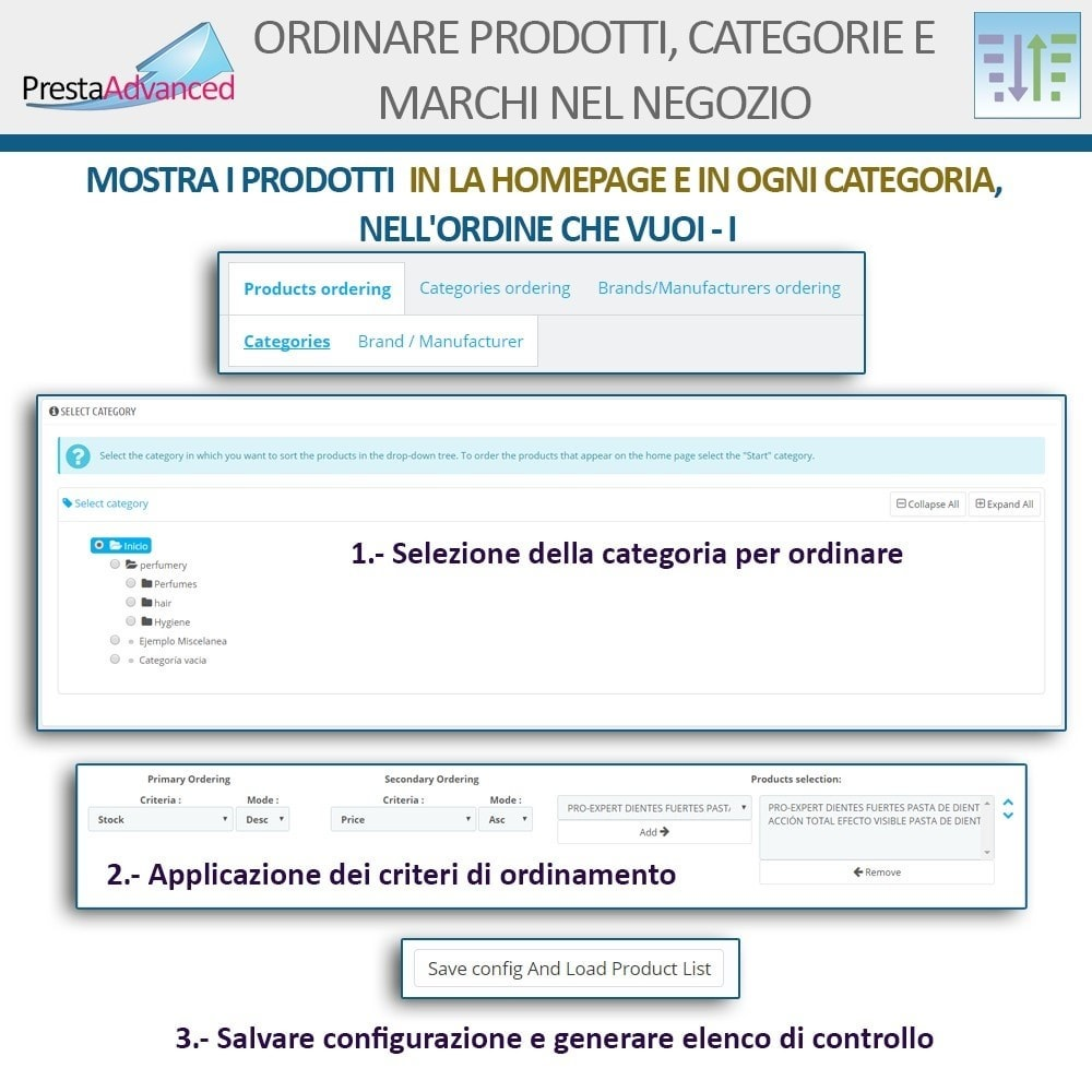 module - Personalizzazione pagine - Ordinamento di prodotti, categorie e marchi nel negozio - 4
