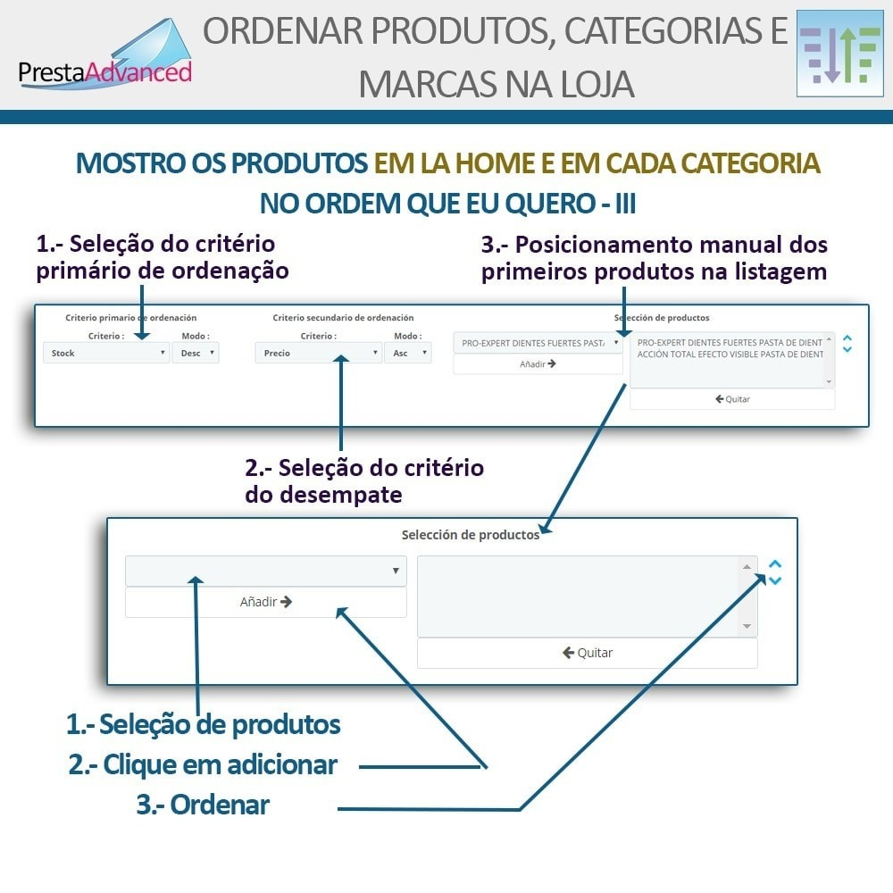 module - Personalização de página - Ordenar produtos, categorias e marcas na loja - 6