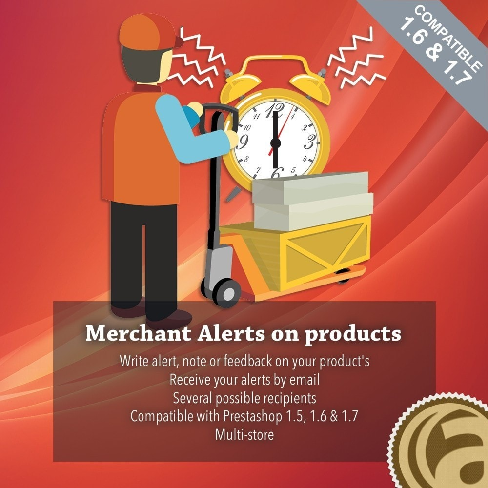 module - E-mails y Notificaciones - Merchant alerts on products - 1