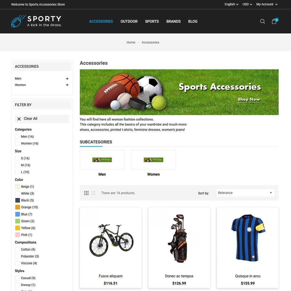 theme - Sport, Loisirs & Voyage - Sporty Accessories Store - 3