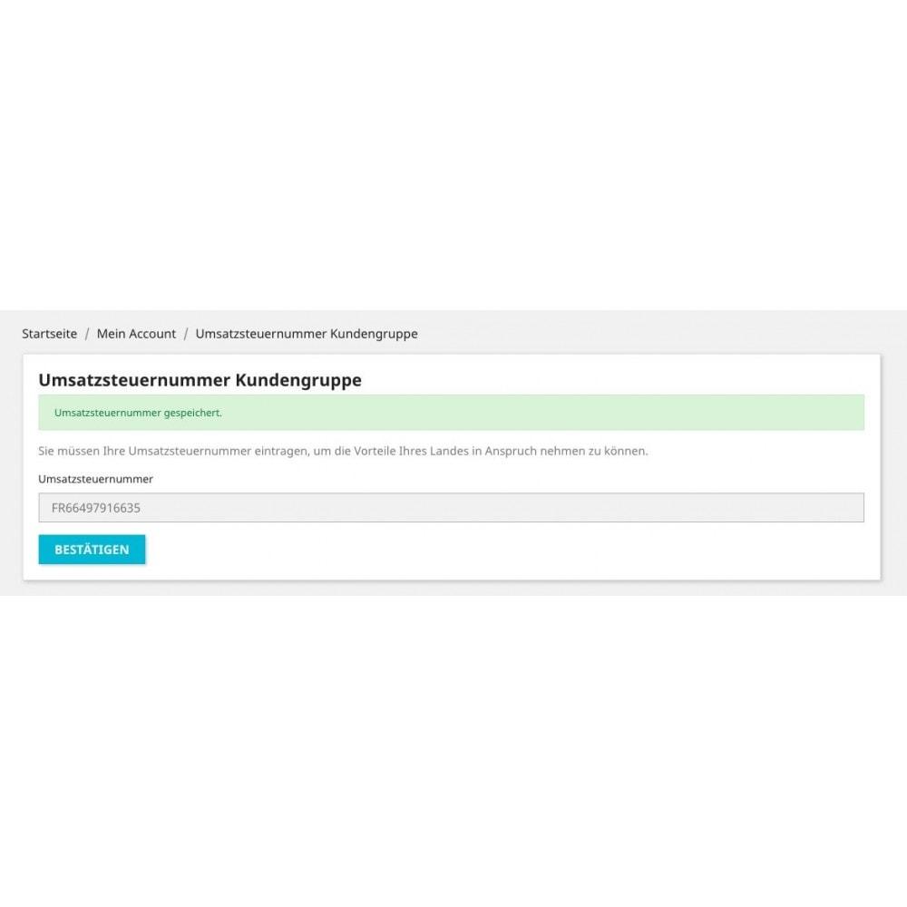 module - Buchhaltung & Rechnung - Umsatzsteuernummer - Kundengruppe - 4