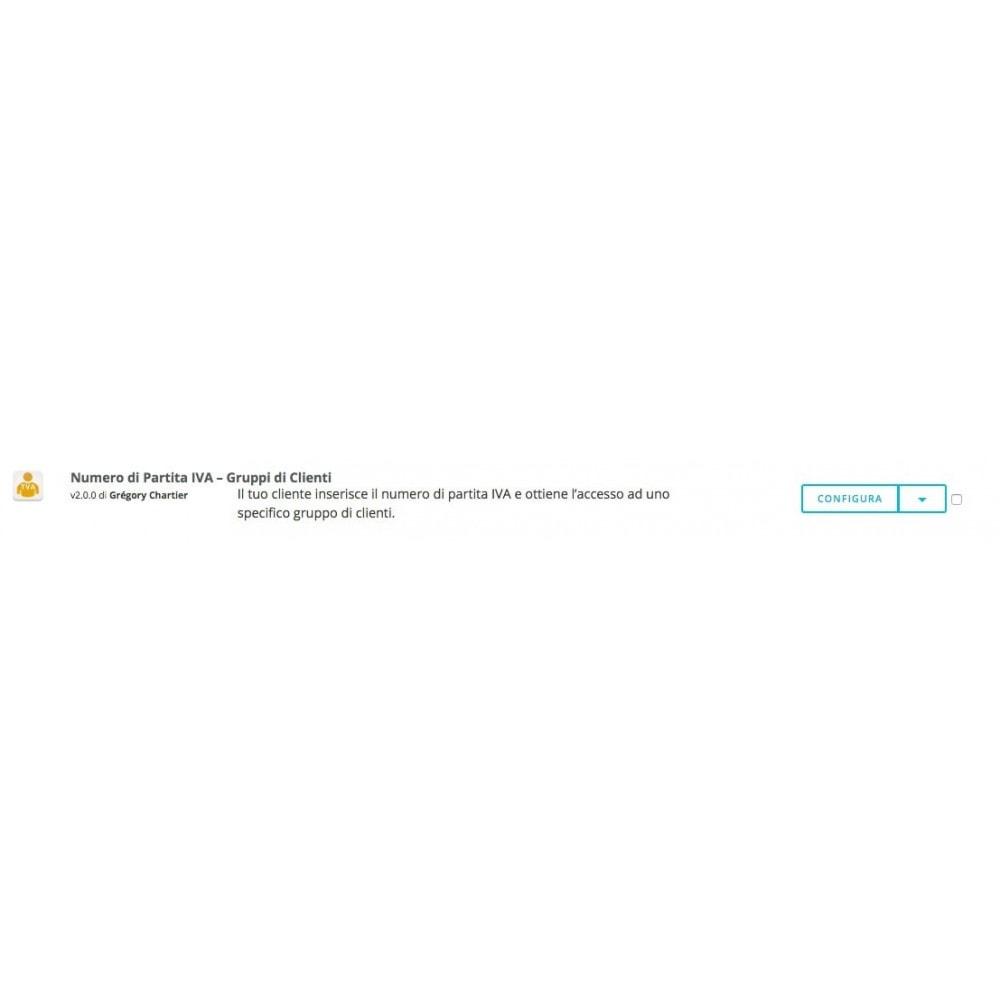 module - Contabilità & Fatturazione - Numero di Partita IVA – Gruppi di Clienti - 5