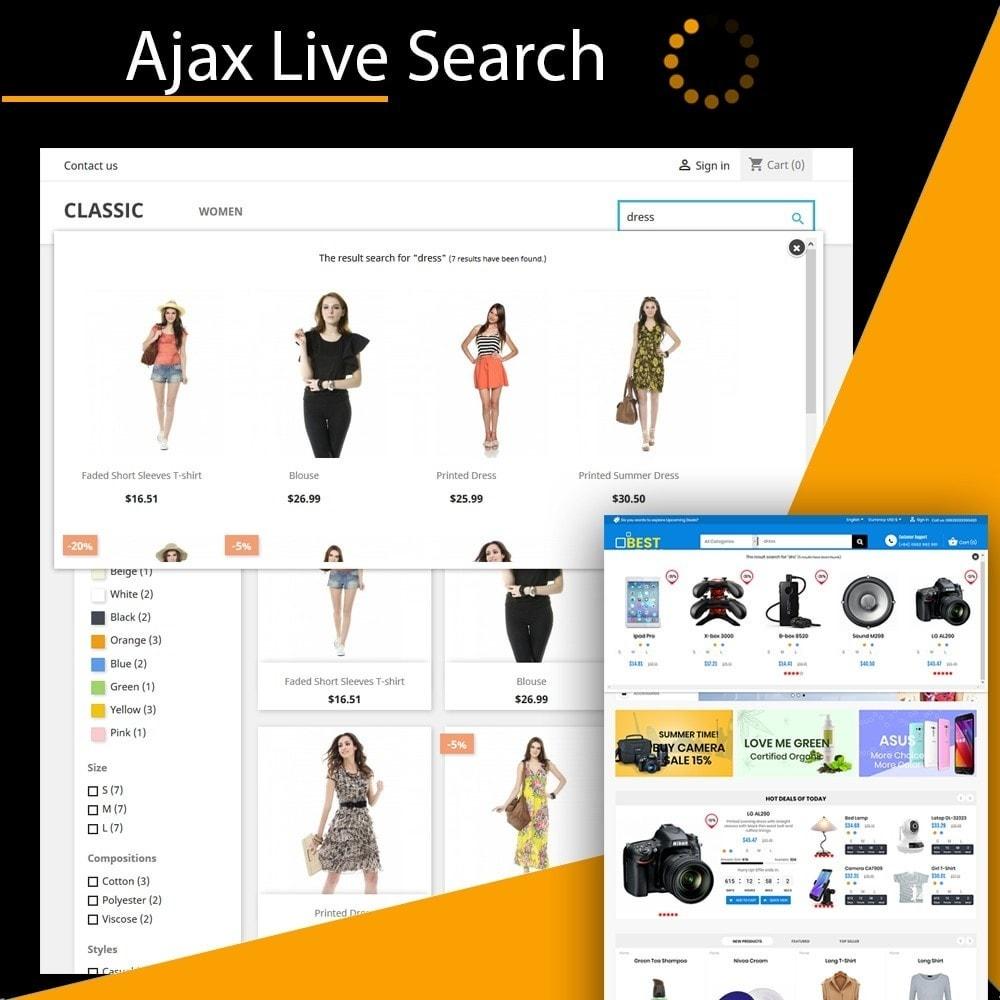 module - Recherche & Filtres - Live Search Auto Complete - 1