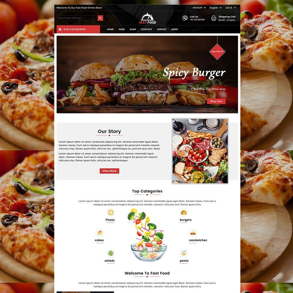 theme - Eten & Restaurant - Fast Food Store - 2