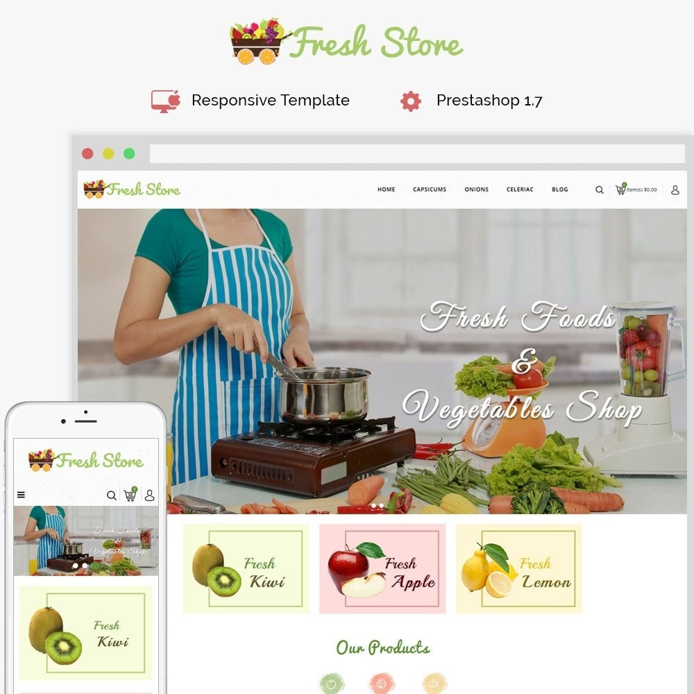 theme - Alimentos & Restaurantes - Fresh Vegetables Store - 1
